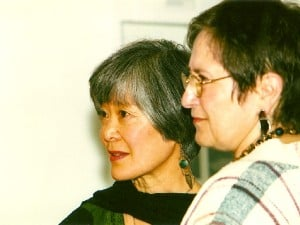 Mira Nakashima and Irene Goldman just after the ceremony.