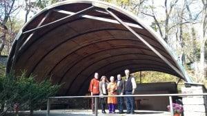 Pool House with Mira Nakashima's husband Jon Yarnall, Foundation Board member