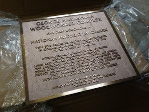 Celebrating the 110th birth year of George Nakashima and the dedication of the National Historic Landmark plaque