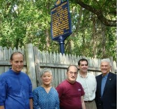 From left, Jonathan Yarnall, Mira and Kevin Nakashima, Nicholas Antonini for State Rep. Bernie O'Neill and Scott Doyle, Pennsylvania Historical and Museum Commission.